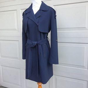 aB by Bernardo Steel Blue Trench Coat